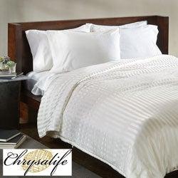 Chrysalife Silk-filled Stripe Jacquard Silk California King-size Comforter