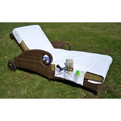 Authentic Grand Turkish Cotton Chaise Lounge Towel Cover with Pockets