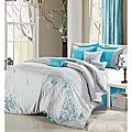 Grey/Blue 8-piece Comforter Set