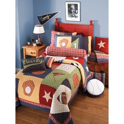 All Sports Twin-size 2-piece Quilt Set