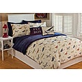 Microplush Vintage Airplane Twin-size 2-piece Comforter Set