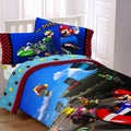 Super Mario &#39;The Race is On&#39; 4-piece Bed in a Bag with Sheet Set