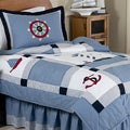 Sweet JoJo Designs Come Sail Away Nautical 4-piece Boy's Twin-size Bedding Set