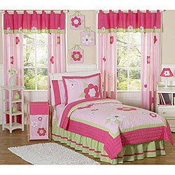 Sweet JoJo Designs Flower 3-piece Girl Queen-size Quilt Set