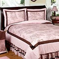 Sweet JoJo Designs Girl's French Toile 3-piece Full/ Queen-size Quilt Set