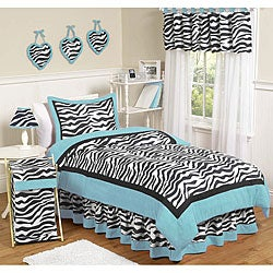 Sweet JoJo Designs Turquoise Funky Zebra 3-piece Full/ Queen-size Bedding Set