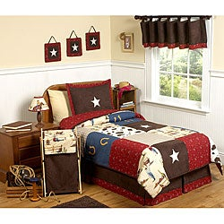 Sweet JoJo Designs Wild West Cowboy 3-piece Boy&#39;s Full/ Queen-size Bedding Set
