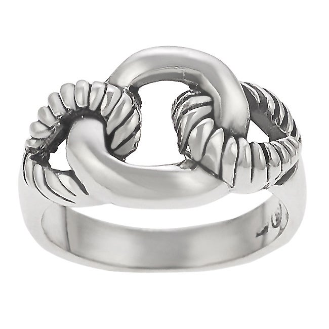 Tressa Sterling Silver Rope Link Ring