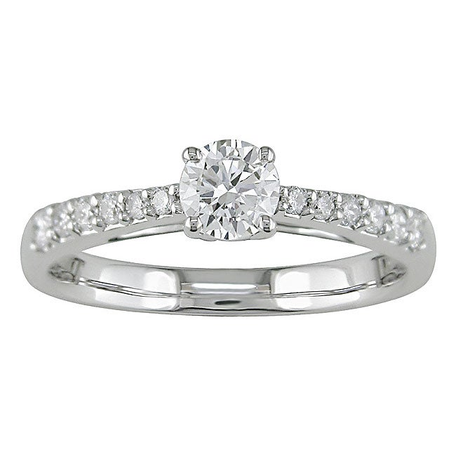 14k white gold 1 2ct tdw engagement ring f