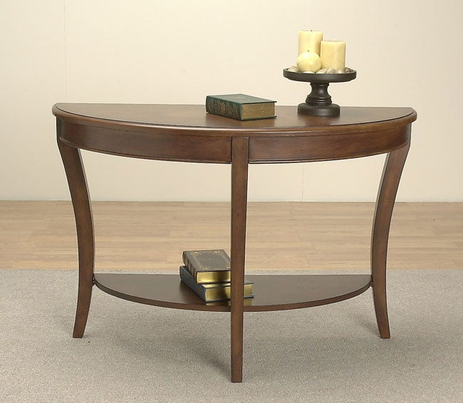 half round sofa table overstock shopping great deals on coffee sofa end tables. Black Bedroom Furniture Sets. Home Design Ideas