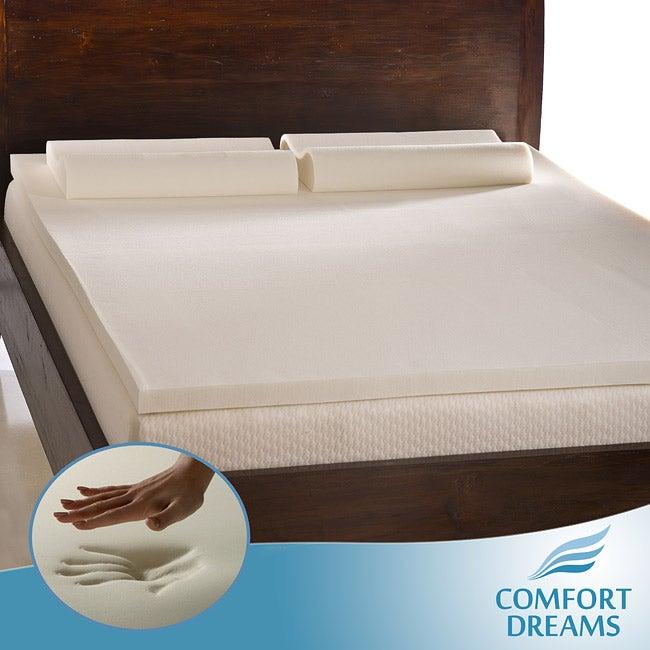 Comfort Dreams 2-inch Queen/ King-size Memory Foam Mattress Topper/ Contour Pillow Set