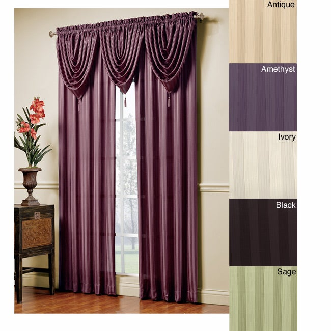 Jolie Window Curtain Waterfall Valance Overstock Shopping Great Deals On Valances