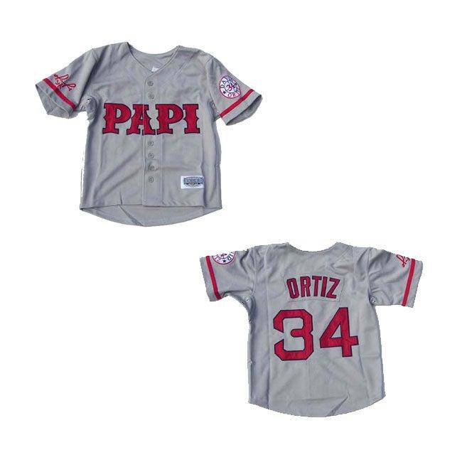 David Ortiz Grey 'Papi' Jersey