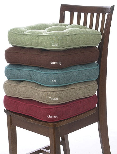 Hopsack No Slip Chair Pads Set Of 4 Overstock