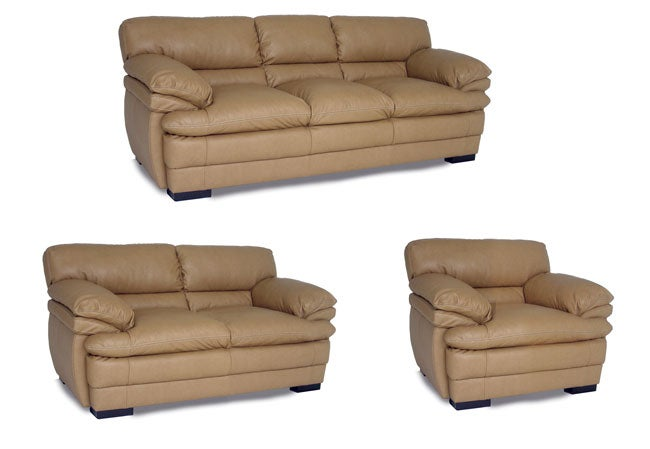 Dalton Tan Leather Sofa Loveseat And Chair Overstock Shopping Big Discounts On Living Room