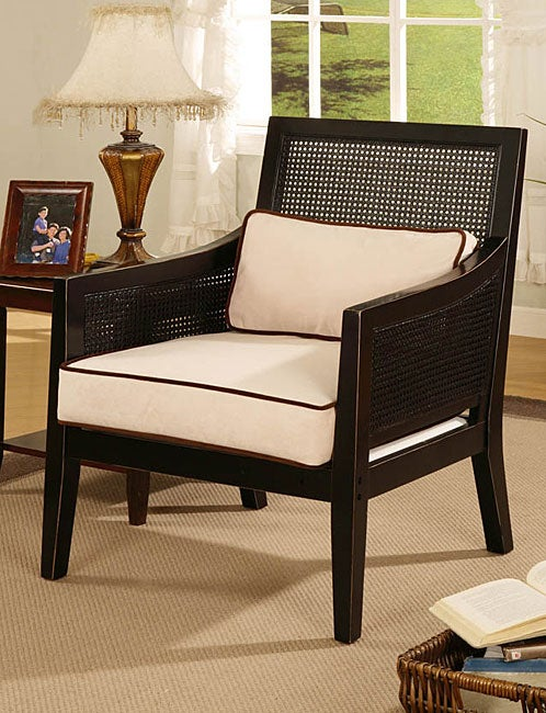 Wicker Plush Arm Chair Overstock Shopping Great Deals On Living Room Chairs