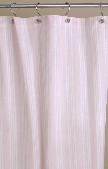 Pink Stripe Cotton Shower Curtain Overstock Shopping Great Deals On Show