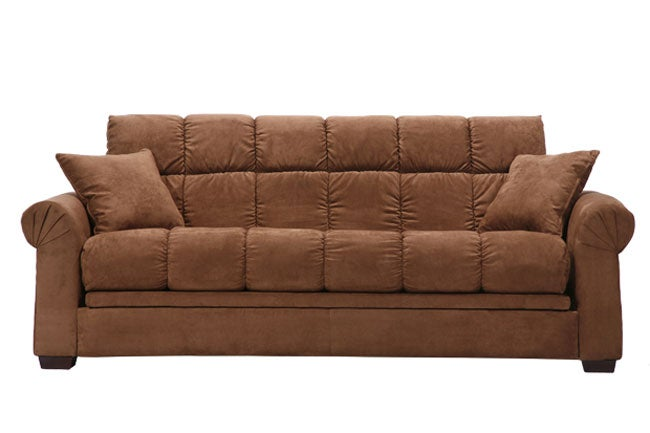 Kent melody chocolate brown futon sofa bed overstock for Sectional sofa bed overstock