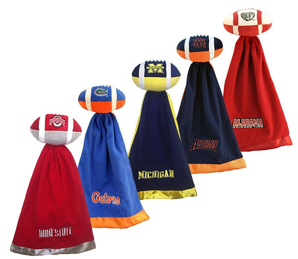 NCAA College Team Logo Snuggleball & Security Blanket