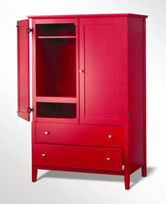 Kylie red armoire overstocktm shopping great deals on for Overstock furniture and mattress plano