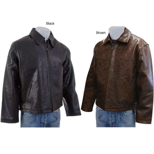 Amerileather Men's Leather Mechanic's Jacket