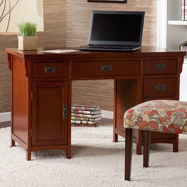 AT HOME by O Wakefield Mahogany Mission Computer Desk at Sears.com