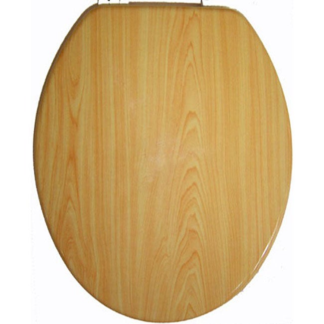 Elongated Molded Wood Solid Toilet Seat