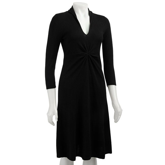 Jones New York Women's V-neck Sweater Dress