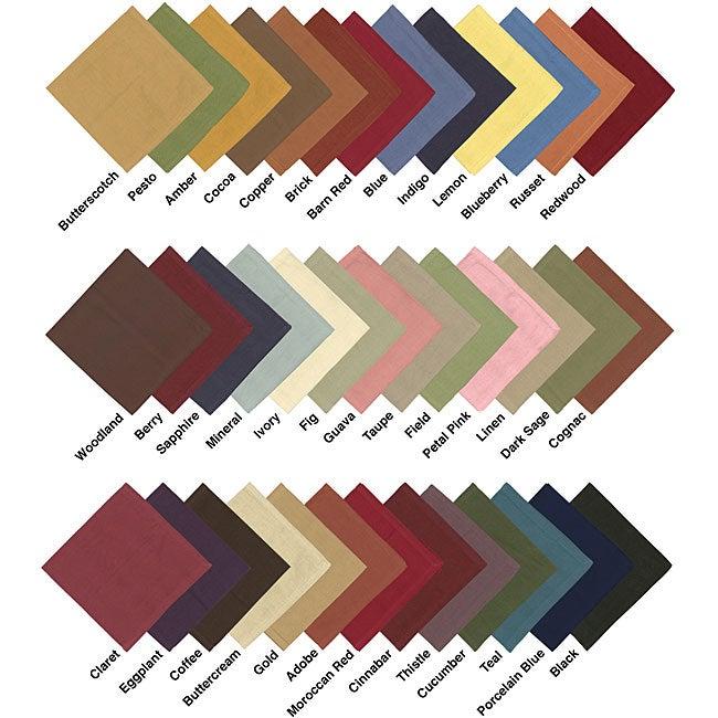 Solid Hemmed Woven Cotton Napkins (Set of 12)