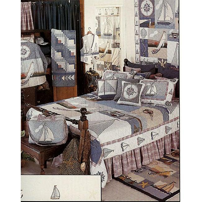 Nautical Queen Cotton Quilt