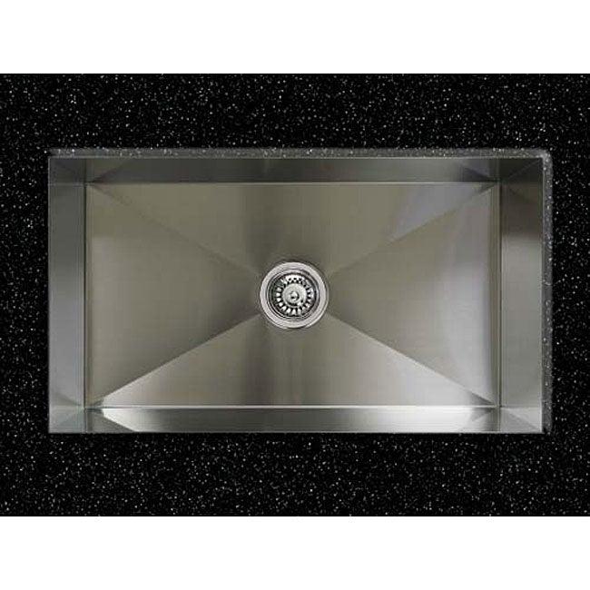 Ticor Undermount Stainless Steel 16-gauge Square Kitchen Sink