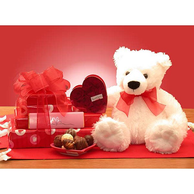 Valentine's Chocolates and Teddy Bear Gift Set