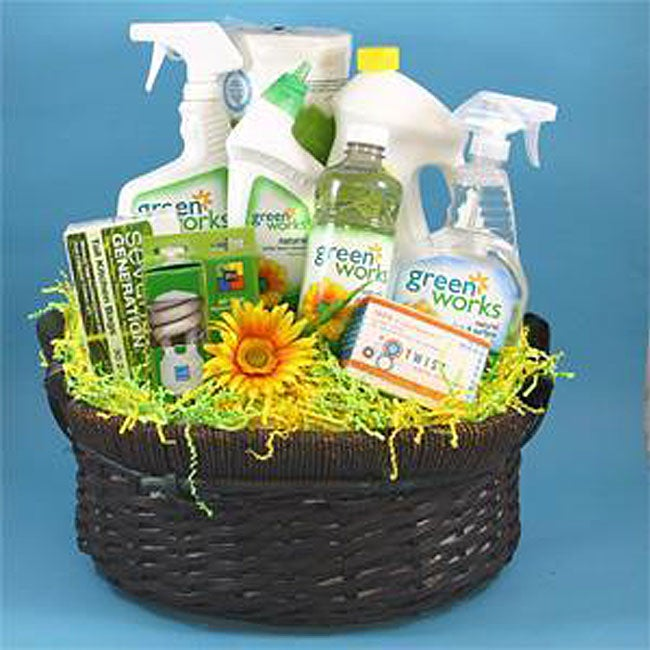 Green Works Eco-friendly Cleaning Products Housewarming Gift Basket