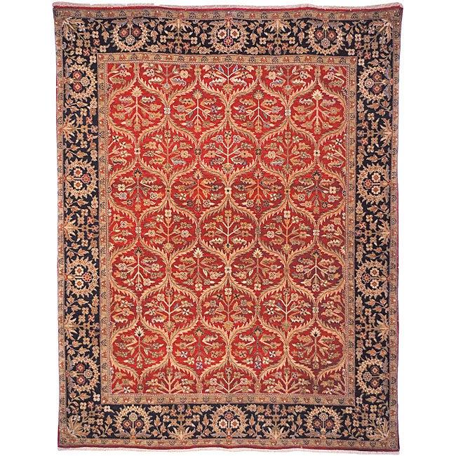 Heirloom Hand-Knotted Treasures Kerman Wool Area Rug (6' x 9')
