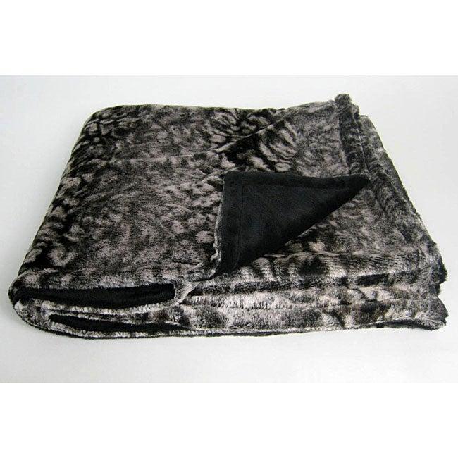 Snow Leopard Microplush Throw Blanket