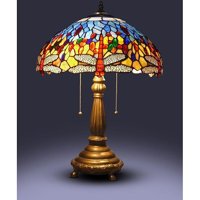 AT HOME by O Tiffany-style Red Dragonfly Table Lamp at Sears.com