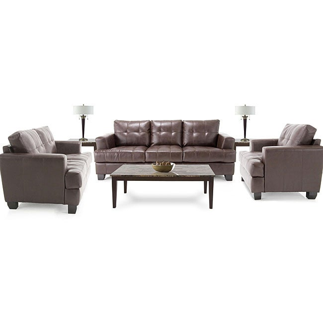 8 piece living room package leather sofa leather for 8 piece living room furniture set