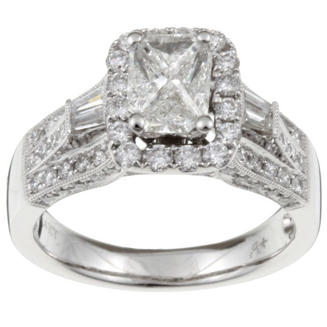 14k Gold 'Emerillion' 1 1/2ct TDW Mixed Cut Diamond Ring (I-J, I1-I2)