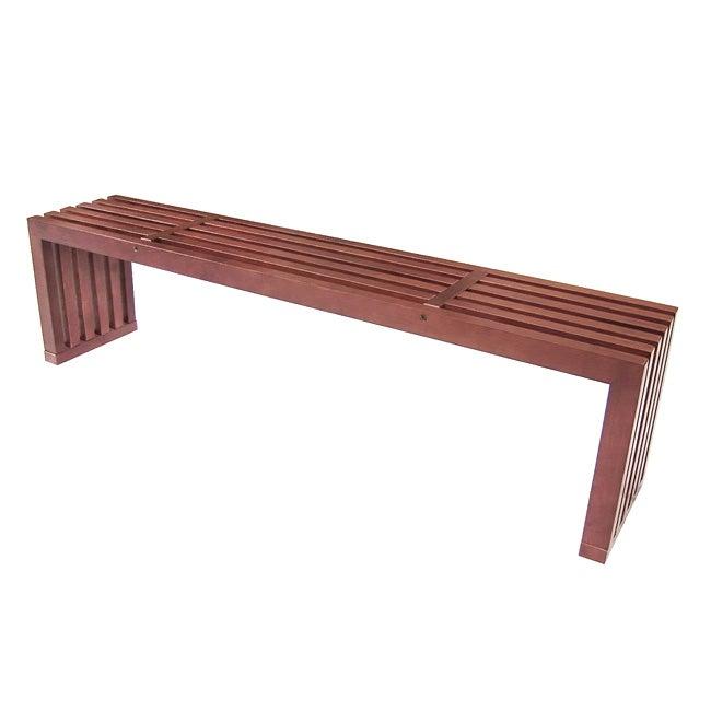 Slat Walnut Bench
