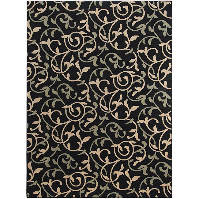 Cafe Collection Floral Indoor/Outdoor Rug (8'9 x 12'9)