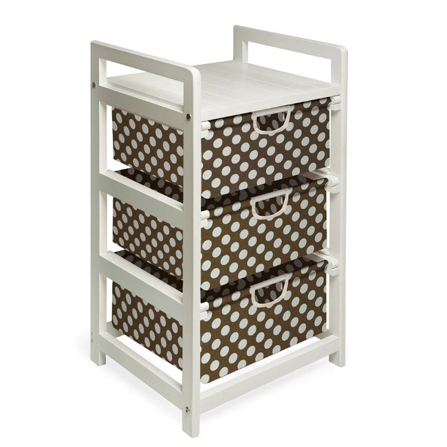 Overstock.com Brown Dot Three Drawer Hamper and Storage Unit at Sears.com
