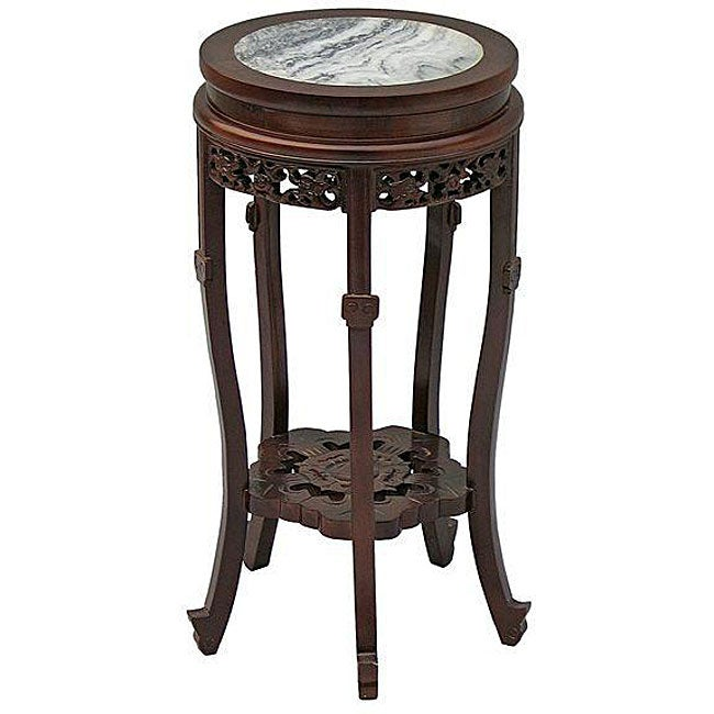 Classical-style Marble Top Accent Table (China)