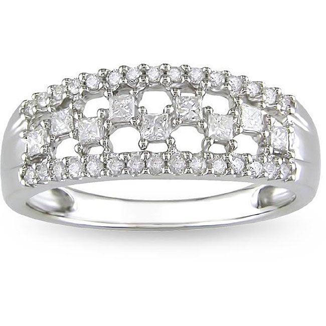 10k White Gold 1/2ct TDW Diamond Ring (H-I, I2-I3)