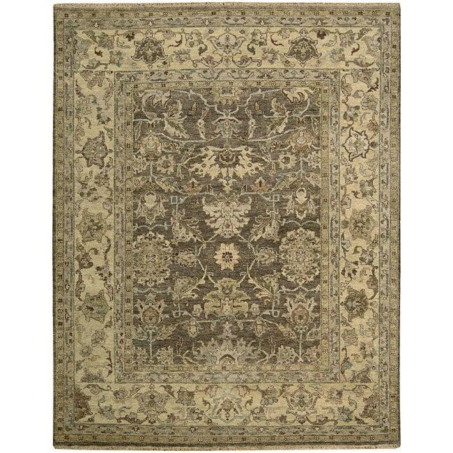 Nourison Hand-knotted Tajik Brown Wool Rug (8'6 x 11'6)