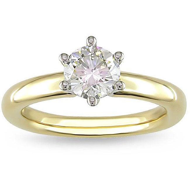 Miadora 14k Gold 1ct TDW Diamond Solitaire Engagement Ring (G-H, VS2)