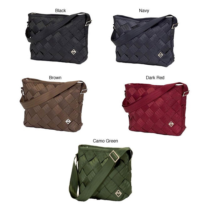 Maggie Bags Recycled Seatbelt Large Messenger Bag