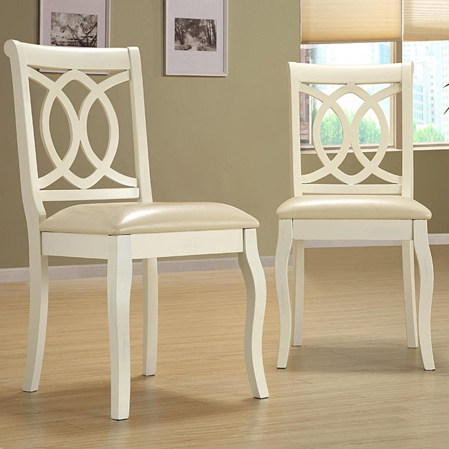 Havana Buttercream Scroll-back Chairs (Set of 2)