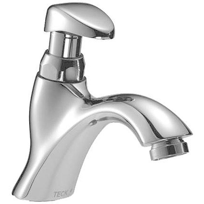 Delta 87t112 Single Hole Mount Polished Chrome Push Button Metering Faucet Overstock Shopping