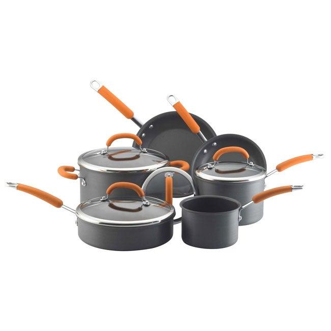 Rachael Ray Hard-Anodized Ten-piece Cookware Set