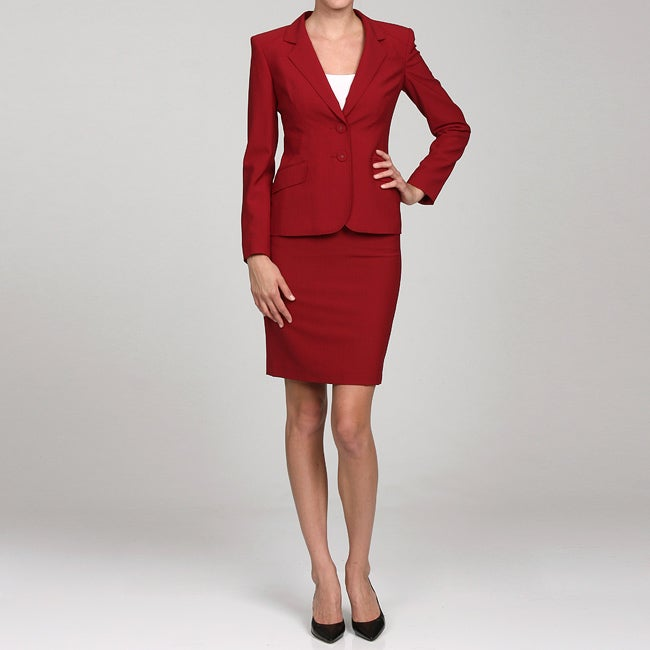 Anne Klein Women S 2 Button Single Breasted Skirt Suit